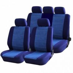 Huse Scaune Auto Bmw Seria 5 E60 Blue Jeans Rogroup 9 Bucati - Husa scaun auto