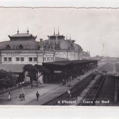 PLOIESTI GARA DE SUD - Carte Postala Muntenia dupa 1918, Circulata, Fotografie