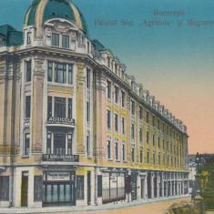 BUCURESTI, PALATUL SOCIETATII '' AGRICOLA'' SI MAGAZIN UNIVERSAL - Carte Postala Muntenia 1904-1918, Necirculata, Printata