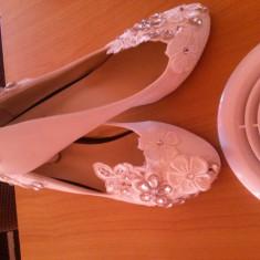 Pantofi mireasa - Pantof dama, Culoare: Alb, Marime: 37