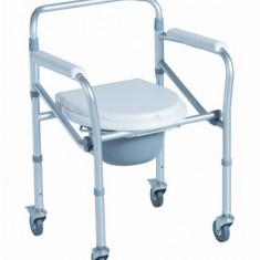 Scaun toaleta pliabil din aluminiu cu roti - Articole ortopedice, Carje