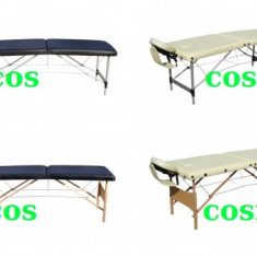 Pat masaj 2 zone/sectiuni structura lemn/metal - Masa masaj