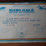 Diploma jubiliara de parasutisti - Diploma/Certificat