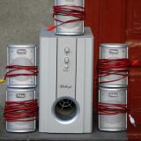 Vand SISTEM AUDIO BELLAGIO 5+1 ~ 5 boxe + subwoofer amplificat ~