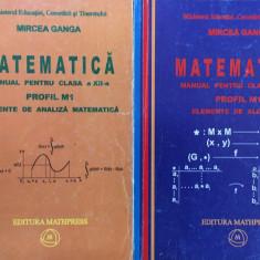 MATEMATICA MANUAL CLASA A XII-A Elemente de algebra + Elemente de analiza Ganga - Manual scolar mast, Clasa 12, Mathpress