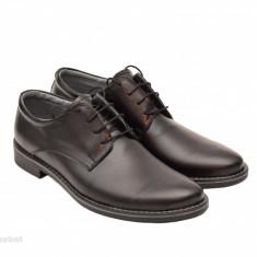 Pantofi barbati piele naturala negri casual-eleganti cu siret cod P69, Marime: 37, 38, 39, 40, 41, 42, 43, 44, Culoare: Alb, Bleumarin, Maro, Mov, Negru, Rosu