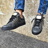 Pantofi casual Zipper- Dark Grey - Adidasi barbati, Marime: 40, 41, 42, 43, 44, 45, Culoare: Din imagine