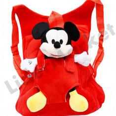 Rucsac cu papusa detasabila Mickey Mouse pentru copii - Ghiozdan