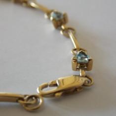 Bratara aur 9k cu zirconiu, Culoare Aur: Galben