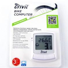 Vitezometru (computer) pentru bicicleta – wireless - cu multiple functii - ALB - Accesoriu Bicicleta