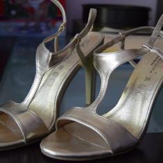 Sandale Benvenuti - Sandale dama Benvenuti, Culoare: Auriu, Marime: 39