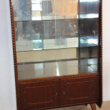 Biblioteca Vintage, influente Stil Rococo; Dulap cu Vitrina; Comoda