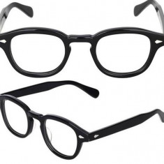 Rama ochelari de vedere Johnny Depp STYLE (gen Moscot TOCILAR ) negru / maro - Rama Police