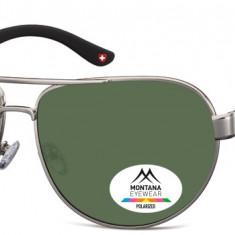 Ochelari de soare unisex Montana Eyewear MP98A light gunmetal / G15 lenses MP98A - Ochelari de soare Polaroid