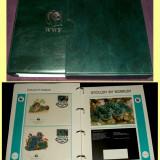 1984-1986 Album filatelic FDC World Wide Fund, plicuri prima zi WWF, Fauna