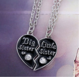 Pandantiv / Colier / Lantisor - BIG SISTER / LITTLE SISTER - 2buc/set