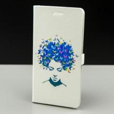 Husa FlipCover Stand Magnet Design Butterfly Girl Alcatel Pixi 4 (5) OT-5010X - Husa Telefon