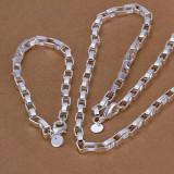 Set Bratara si Lantisor Barbati Argint 925 - Set bijuterii argint