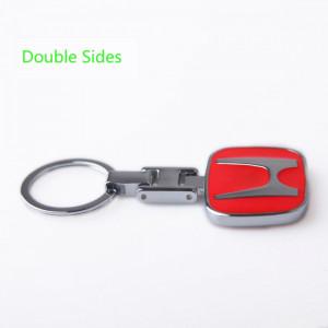 Breloc metal model HONDA rosu  Logo emblema cutie simpla cadou