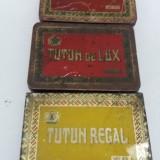 LOT 3 CUTII TABLĂ TUTUN REGAL, TUTUN DE LUX - Cutie Reclama