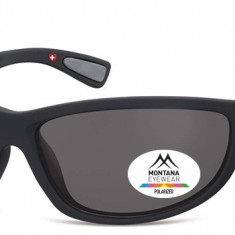 Ochelari de soare sport barbati Montana Eyewear SP312 black / smoke lenses SP312