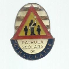 INSIGNA PIONIERI - PATRULA SCOLARA DE CIRCULATIE FORMAT 25 MM X 35 MM