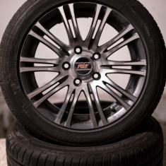 4 x Janta aliaj Mercedes-benz MEC + anvelope Dunlop 195/50R15, Numar prezoane: 5, PCD: 150
