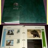 1988-1990 Album filatelic FDC World Wide Fund, plicuri prima zi WWF, Fauna