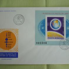 FDC ROMANIA 50 % - Alinierea Planetelor - nr. lista 1034, Romania de la 1950, An: 1981