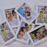 Rama 6 fotografii (culoare: alb)