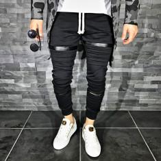 Pantaloni barbati 008 Black, Marime: S, M, XL, Culoare: Din imagine, Lungi, Bumbac