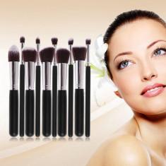10 Pensule Profesionale Make Up Kabuki Style - Pentru Fond De Ten, Blush, Pudra - Pensula machiaj