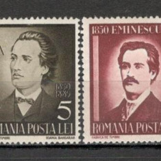 Romania.1939 50 ani moarte Mihai Eminescu XR.78 - Timbre Romania, Nestampilat