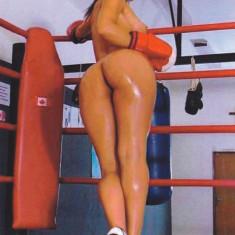 Blonda sexi in ring de box. - Obiecte decorative