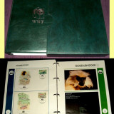 1983-1984 Album filatelic FDC World Wide Fund, plicuri prima zi WWF, Fauna