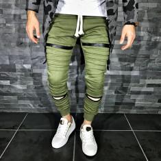 Pantaloni barbati 008 Olive, Marime: M, Culoare: Din imagine, Lungi, Bumbac