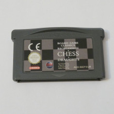 Joc Nintendo Gameboy Advance - Board Game Classics Backgammon Chess Draughts - Jocuri Game Boy Altele, Actiune, Toate varstele, Single player
