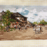 Goblen-Carciuma la Rucar, dupa N . Grigorescu