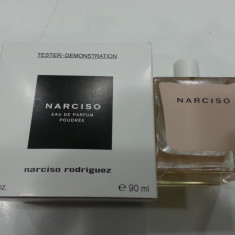 Tester Narciso Rodriguez Poudree Made in France - Parfum femeie Calvin Klein, Apa de parfum, 90 ml