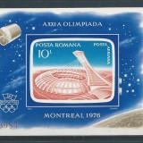 1976 Romania, LP 915- J.O. de Vara, Montreal(colita nedantelata)-MNH - Timbre Romania, Sport, Nestampilat