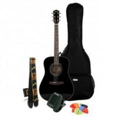 Chitara Fender CD-60 BK + husa + tuner - Chitara acustica