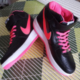 Adidasi Ghete NIKE AIR FORCE ONE Negru cu Roz marimi 36 - 40 - Adidasi dama Nike, Culoare: Din imagine, Marime: 38, 39, Piele sintetica