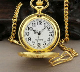 Ceas De Buzunar Retro -Auriu