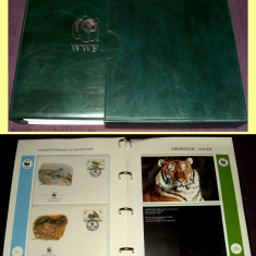 1991-2001 Album filatelic FDC World Wide Fund, plicuri prima zi WWF, Fauna
