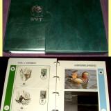 1986-1987 Album filatelic FDC World Wide Fund, plicuri prima zi WWF, Fauna