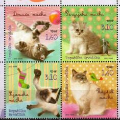 CROATIA 2012, Fauna - Pisici, serie neuzata, MNH - Timbre straine, Nestampilat