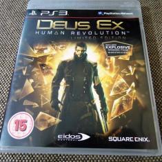 Joc Deus Ex Human Revolution, PS3, original, alte sute de jocuri! - Jocuri PS3 Sony, Actiune, 16+, Single player