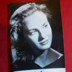 Fotografie cu autograf tiparit al Actritei Aurelia Sorescu