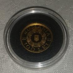 Romania - 100 lei 2003 - poiana cotofanesti - aur 1.224 g, aur 99.9% - Moneda Romania