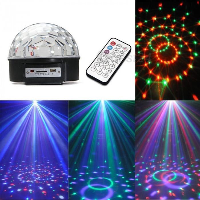 Glob disco USB jocuri lumini difuzoare  audio Lumini 6 Culori telecomanda stick